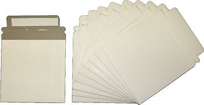 "10 Paperboard Slim Single CD / DVD Mailer - 5""x 5"" Self-Sealing Shipping ... New"