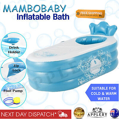 Inflatable Spa Bath Tub Free Standing Portable MamboBaby Hot Indoor Outdoor Pool