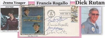FDC signed by Voyager participants, Ratan, Yeager Rogallo + one (3963