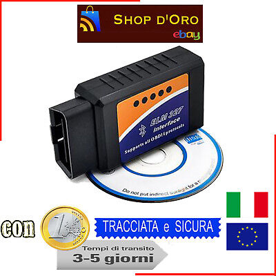 Mini Elm327 Obd2 V2.1 Strumento Per Diagnosi Auto Interfaccia Bluetooth Android