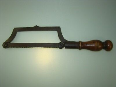 Superb Antique Medical Surgical Amputation Saw Mahogony Handle Ca 1800 Museumpc