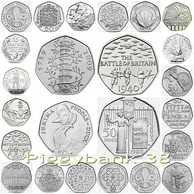 Various Rare 50p Commemorative coins Kew Gardens / Puddle Duck  for GB Coin Hunt