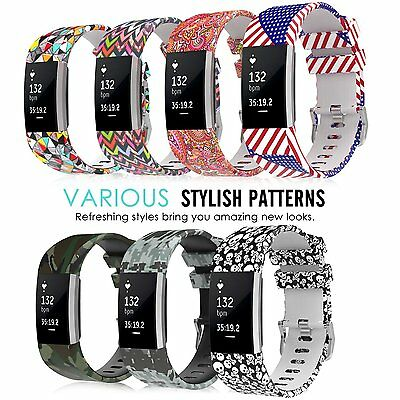 Fashion Watch Strap Colorful Sports Silicone Bracelet Band for Fitbit Charge 2