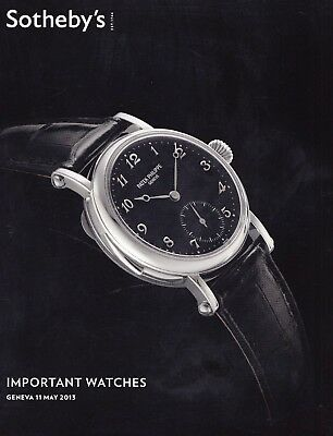 IMPORTANT WATCHES Sotheby's Genf 13 +results