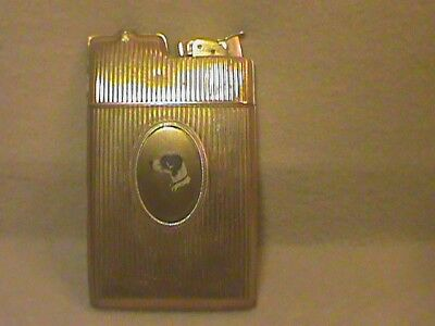 Vintage Art Deco Evans Cigarette Case with Lighter Free Shipping