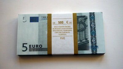 5 Euro 80pcs Paper Money FOR GAME