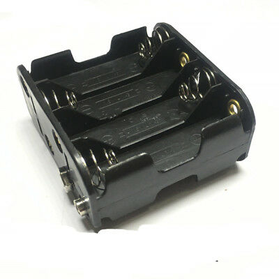 1 Pcs 8 x AA Dual Layers Battery Holder Case 12V  Holder Box  Snap Connector