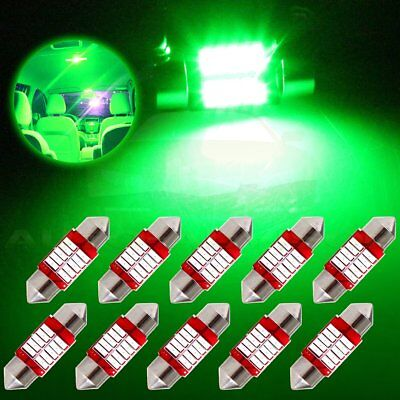 10x 31mm Green Festoon Car SMD LED Interior Dome/Map/Cargo Bulb lights Lamp 12V