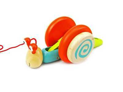 Wooden Pull A Long Snail | Kaper Kidz | Baby Toddler Along