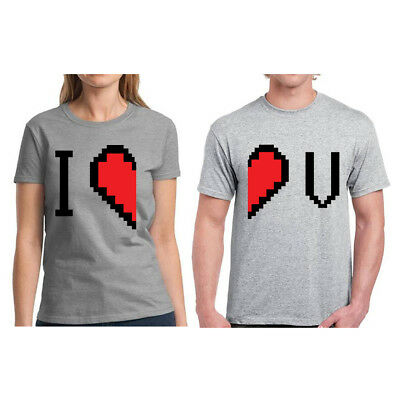 Matching Couple I Love U T-shirts for Couples Anniversary Gifts for Couples