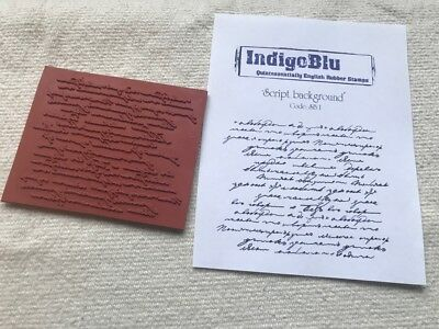 IndigoBlu cling mounted rubber stamp - Script background text words