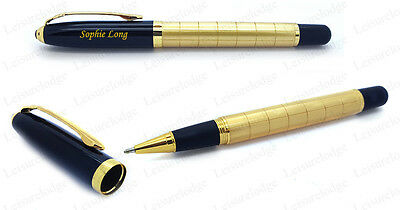 LUXURY CASED ROLLERBALL PEN Mens Womens Quality Writing Desk Gift PERSONALISED