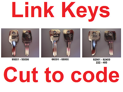 2 x Replacement Link Keys Cut to Code - Filing Cabinets Lockers & Desks FREE P&P
