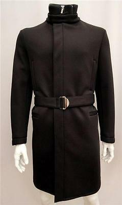 Calvin Klein Collection Black Heavy Duty Padded Long Coat IT48 New