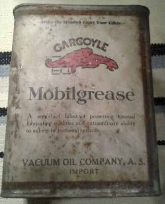 GARGOYLE Mobilgrease metal can - jerrycan Vacuum Oil Company AS import Mobiloil