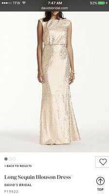 DAVID\'S BRIDAL PLUS Size Formal Dress Champagne Colored with ...