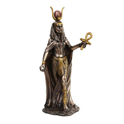 "NEW! 11"" Hathor Egyptian Goddess of the Sky Figurine Statue Bronze Finish 9974"