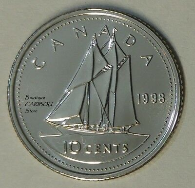 1998 Canada Proof-Like 10 Cents