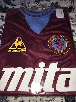 Brand New Retro Aston Villa 1984 Shirt S M L XL