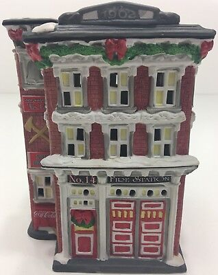 Coca Cola Station #14 Firehouse Town Square Collection 1995 Vintage Christmas