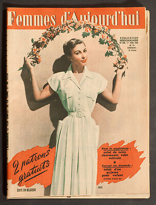 'femmes D'auourd'hui' French Vintage Magazine Pattern 1 May 1954