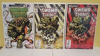 Swamp Thing #0 #1 (1st & 2nd Print) NM Snyder Paquette DC New 52 2011