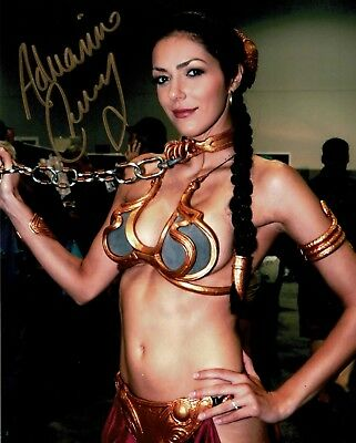 SEXY SLAVE GIRL LEIA!  8x10 signed art photo. Autograph World LLC COA