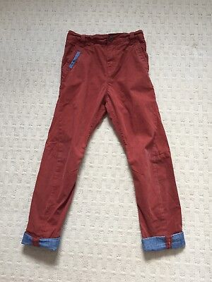 Next Boys Rust Coloured Jeans Age 8 Years 128cm. Elasticated Adjustable Waist