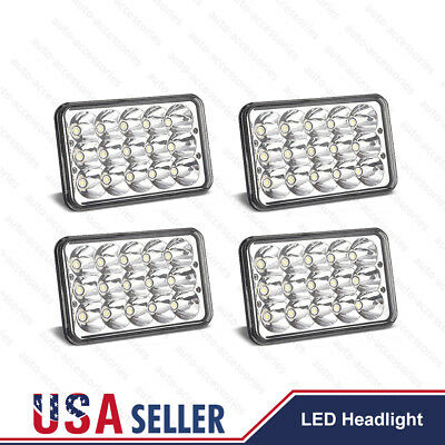 "4pc 4x6"" Hi/Lo Beam LED Headlights H4656/4651 For Kenworth Peterbilt 357 379 378"