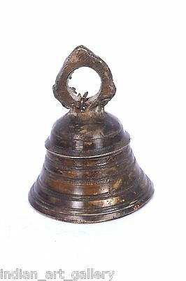 Rare Vintage Handicraft High Age Brass Ritual Temple Bell, Good Sound. i9-40