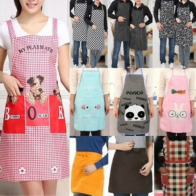 Men Women Cooking Kitchen Restaurant Chef Adjustable Bib Apron with Pocket Lots