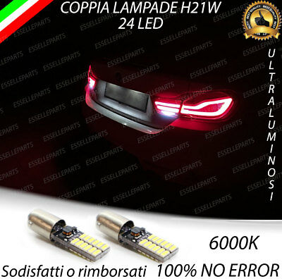 Lampade Retromarcia 24 Led H21W Bay9S Canbus Bmw Serie 4 F32 F33 F82 6000K
