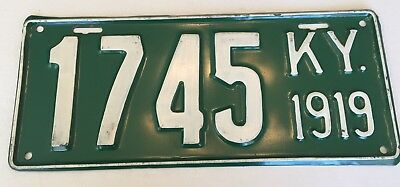 1919 Kentucky License Plate