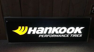 Hankook Performance Tire Lighted Light Up Hanging Sign Double Sided Advertising