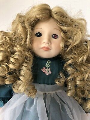 "Dolls by Paulina A paulina Bjonness-Jacoben Design Mary LTD 17"" Excellent Cond."
