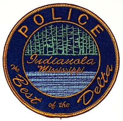 INDIANOLA MISSISSIPPI MS Police Sheriff Patch BEST OF DELTA RIVER TREES FOREST ~