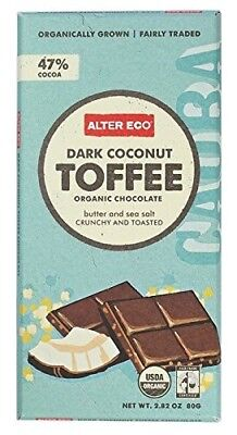 (12 Pack) - Alter Eco - Dark Coconut Toffee Organic Chocolate - 12 Pack