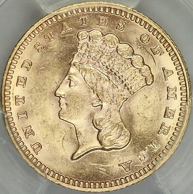 1887 Gold Dollar PCGS MS64