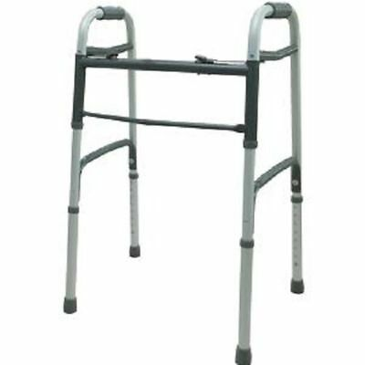 Two-Button Medical Folding Walker Rollator Medical Aid Soft Hand Grip Adjustable
