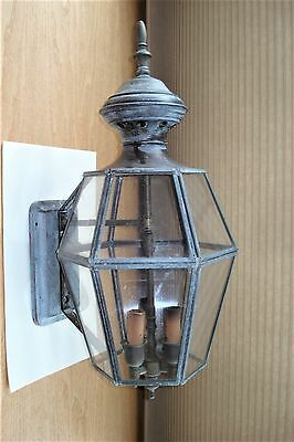 Vintage Large 3 Socket Gas Style Electric Outside Sconce Light... Gothic