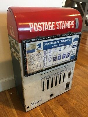Us Postage Stamps Machine Stampak Inter-American Vending Sign Display Vintage