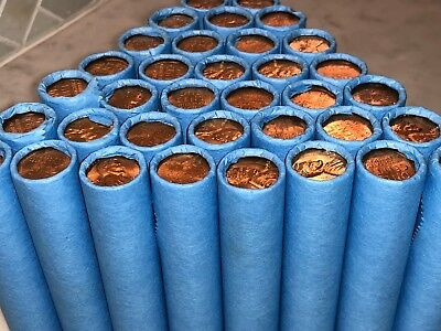 Blue Wheat Cent Penny Rolls Extremely Rare Estate Collection Lot Us Coin