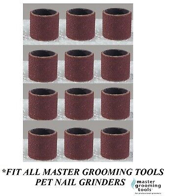 12 Sanding Grinding Bands For MASTER GROOMING TOOLS Nail Grinder EXTRA FINE GRIT