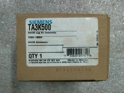 NIB Siemens TA3K500 Breaker Lug Terminal Kit 700A-800A - 60 day warranty