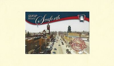 Advertising Postcard for SEAFORTH, Ontario-Downtown View