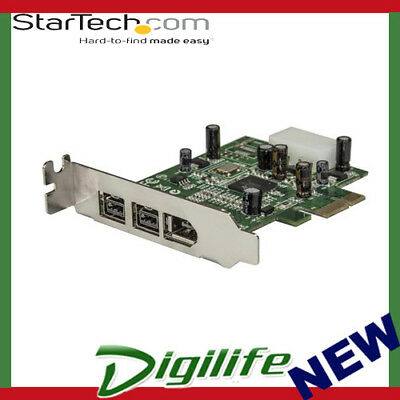 STARTECH 3 Port 2b 1a Low Profile 1394 PCI Express FireWire Card Adapter