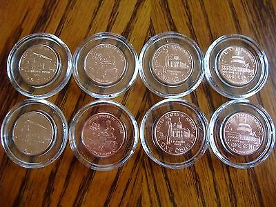 2009 Set Lincoln Bicentennial Cent Penny P & D  8 Coins indiv plastic protecter