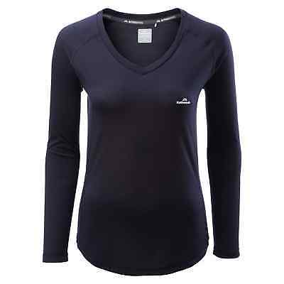 Kathmandu driMOTION Women's Long Sleeve Active Performance T-Shirt Navy