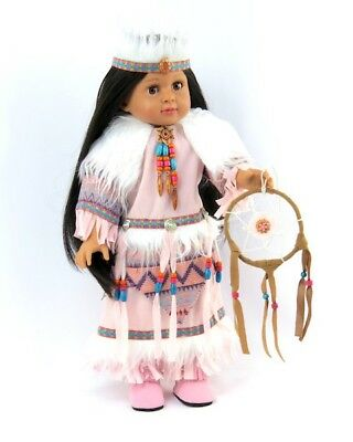"""Doll Clothes 18"""" Dress Pink Native American Dream Catcher Fits 18"""" AG Dolls"""
