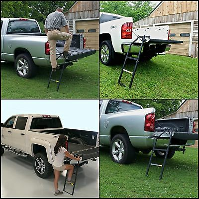 Traxion Pickup Tailgate Ladder Heavy Duty Truck Bed Step Universal Secure Climb